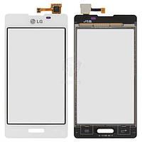 Тачскрин (сенсор) LG E450 Optimus L5x | Оригинал | E460 Optimus L5 | Оригинал | белый