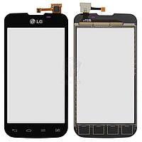 Тачскрин (сенсор) LG E455 Optimus L5 Dual Sim | Оригинал | черный