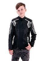 Детская куртка из эко-кожи с принтом Manan