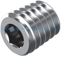 DIN 906 тип М Пробка резьбовая М24 конические из нержавеющей стали с шестигранным углублением под ключ