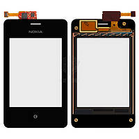 Тачскрин (сенсор) Nokia 502 Asha Dual Sim   Оригинал   с рамкой   Оригинал   черный