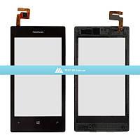 Тачскрин (сенсор) Nokia Lumia 520 | Оригинал | Lumia 525 | Оригинал | с рамкой | Оригинал | черный