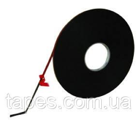 Вспененная двухсторонняя лента HPX 21389 для молдингов и мухобоек 9мм х 50м х 0,8мм, черный цвет