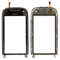 Тачскрин (сенсор) Nokia C7-00 | Оригинал | с рамкой | Оригинал | черный