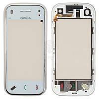 Тачскрин (сенсор) Nokia N97 Mini | Оригинал | с рамкой | Оригинал | белый