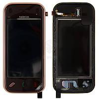 Тачскрин (сенсор) Nokia N97 Mini | Оригинал | с рамкой | Оригинал | коричневый