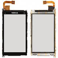 Тачскрин (сенсор) Nokia X6-00 | Оригинал | с рамкой | Оригинал | черный