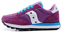 Женские кроссовки Saucony Jazz (Саукони) фиолетовые