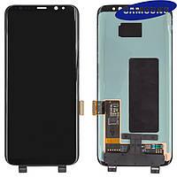 Дисплейный модуль (дисплей + сенсор) для Samsung Galaxy S8 G950F, черный, оригинал