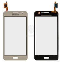 Тачскрин (сенсор) Samsung G531H DS Grand Prime VE | Оригинал | золотистый