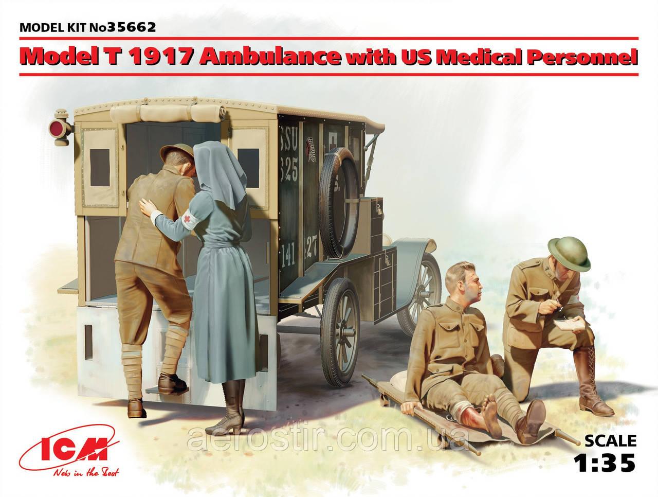 Модель Т1917 санитарная с медицинским персоналом 1/35 ICM 35662