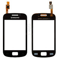 Тачскрин (сенсор) Samsung S6500 Galaxy Mini 2 | Оригинал | черный