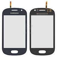 Тачскрин (сенсор) Samsung S6810 Galaxy Fame   Оригинал   синий
