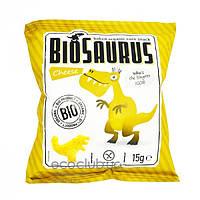 Кукурузные снеки органические BioSaurus с сыром McLLOYD`S 15г