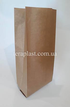 Пакет с центральным швом крафт+металл 1кг 135х360х35, фото 2