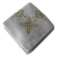 Крестильное полотенце - Крыжма хлопок 100*100 см. Турция цвет: золото, фото 1