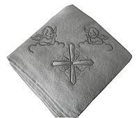 Крестильное полотенце - Крыжма хлопок 100*100 см. Турция цвет: серебро