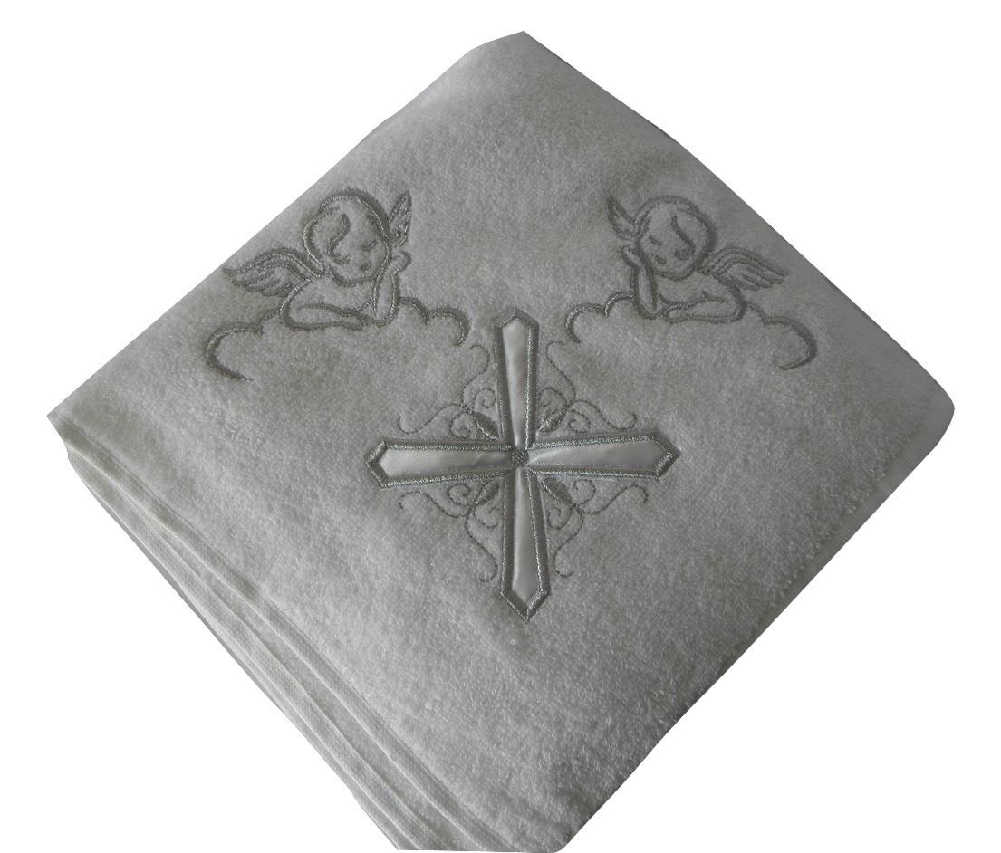 Крестильное полотенце - Крыжма хлопок 100*100 см. Турция цвет: серебро, фото 1