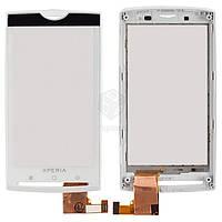 Тачскрин (сенсор) Sony Ericsson X10 | Оригинал | с рамкой | Оригинал | белый