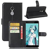 Чехол Xiaomi Redmi Note 4X / Note 4 Global книжка PU-Кожа черный, фото 1