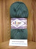 Полушерстяная пряжа (49%-шерсть,51%-акрил,100г/800м) Alize Lanagold 800  (386 лазурный)