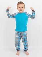 Детская хлопковая пижама для мальчика РВ 017, рр. 104-140, ВОЛ (Cornett)