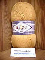 Полушерстяная пряжа (49%-шерсть,51%-акрил,100г/800м) Alize Lanagold 800  (680 медовый)