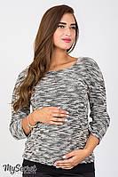 Джемпер Lerin для беременных и кормящих (черный)