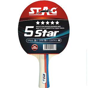Ракетка для настольного тенниса Stag *****5Star (ФИТНЕС)