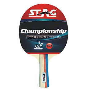 Ракетка для настольного тенниса Stag Championship (ФИТНЕС)