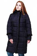 Теплое зимнее  пальто Анеля полуприталенного силуэта  48-64р 58