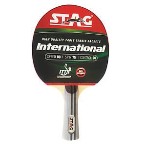 Ракетка для настольного тенниса Stag Inetnational (ФИТНЕС)