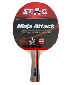 Ракетка для настольного тенниса Stag Ninja Attack (ФИТНЕС)