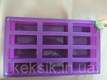 Форма силиконовая Прямоугольник 12 шт