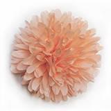 Бумажный помпон 12 см персиковый