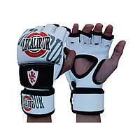 Перчатки MMA Excalibur 670 L белый/черный