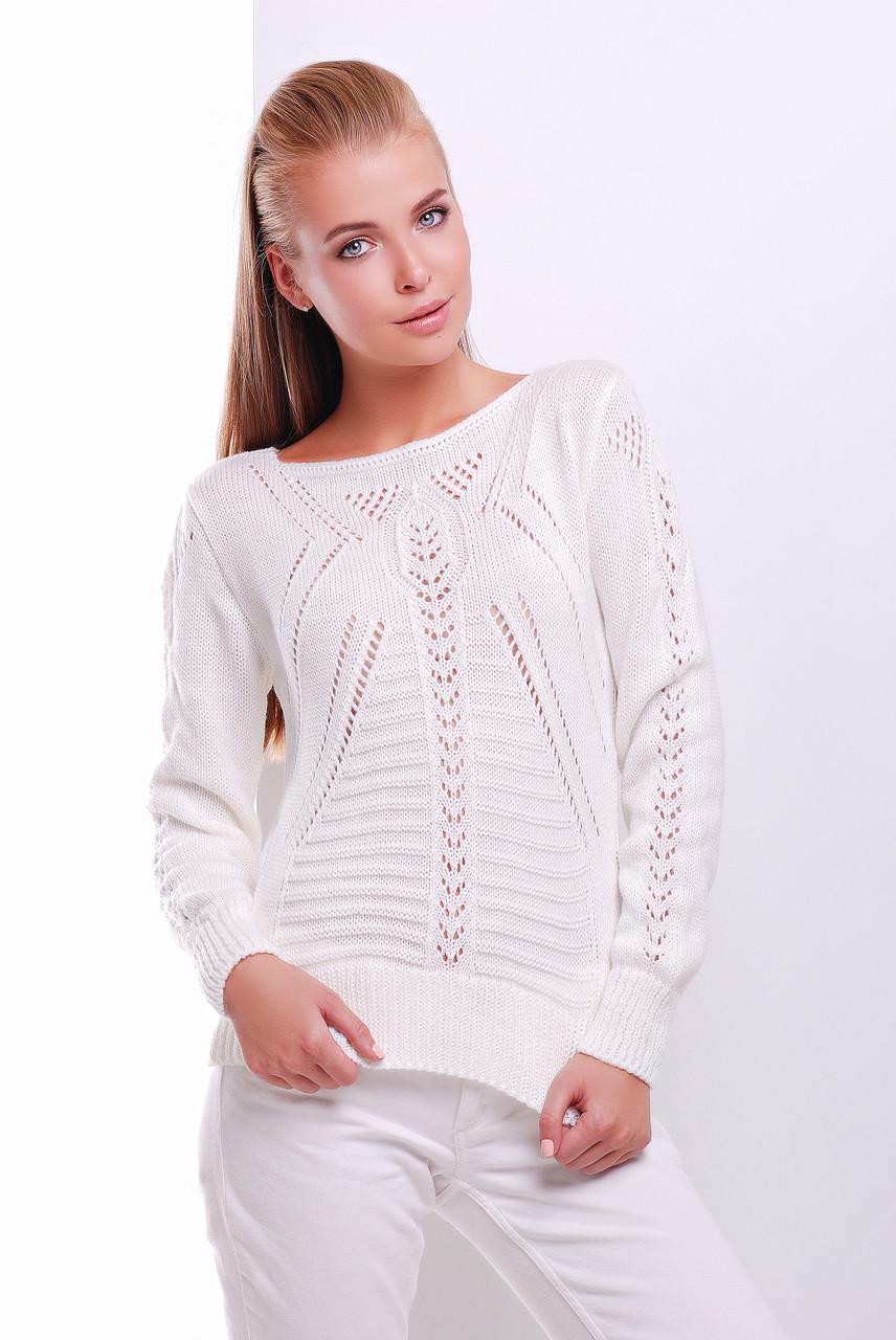 Однотонный женский свитер