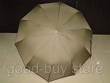 Зонт однотонный полуавтомат SL хаки (SL484-3) на 10 спиц