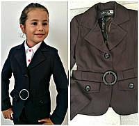 Детский школьный пиджак с поясом / Украина / костюмка