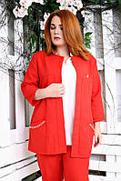 Яркий женский кардиган Манго красный (50-56)