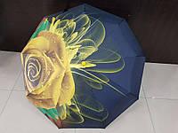 Зонт женский автомат Lantana Желтая Роза (L712-2)