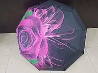Зонт женский автомат Lantana Розовая Роза (L712-3)