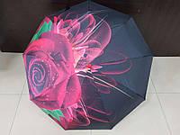Зонт женский автомат Lantana Красная Роза (L712-1)