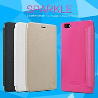 Кожаный чехол книжка Nillkin Sparkle для Huawei P8 LITE , фото 1