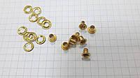 Люверс X0646 mini золото 5 мм