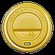 Крышка КР75 50шт.(40/2000) (250мл) Желтая