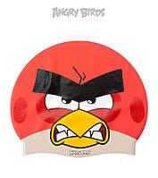 Детская (Junior) силиконовая шапочка для плавания Angry Birds Angry Red JR, фото 1