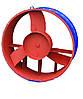 Осьовий вентилятор ВО 06-300 №6,3 з дв. 0,75 кВт 1500 об./хв