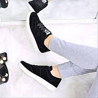 Кроссовки женские Blame черные 3561, полуботинки женские, обувь дропшиппинг