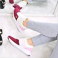 Кроссовки женские Massive Style бордо 3564, спортивная обувь